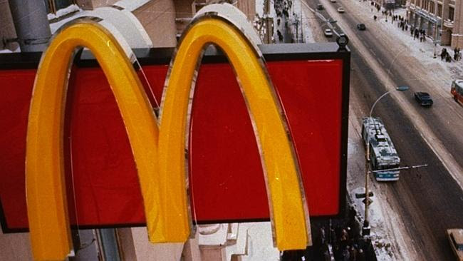 A McDonald's sign in Moscow.