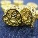 10 pcs 16 X 20 X 6 mm Bohemian Filigree 3D Metal Charms, Golden, Heart - 10500038-010