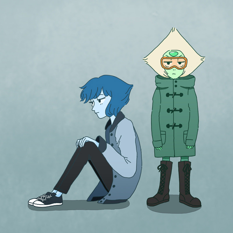 Lapidot in winter clothes