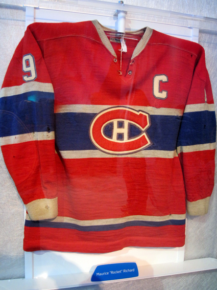 Maurice Richard jersey