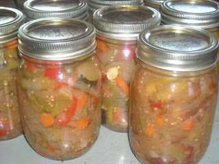 Spring Garden 2010 End of the Garden Pickles in Canning Jars