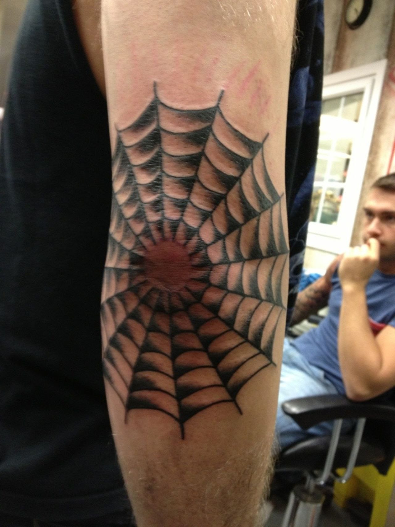 Spider Web Elbow Tattoo Meaning
