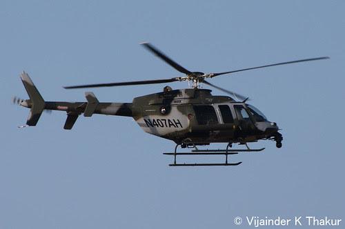 Bell 407 at Aero India 2013 by sensorbliss