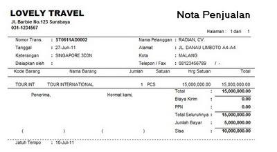 Contoh Invoice Pembayaran Uang Muka Healthy Body Free Mind