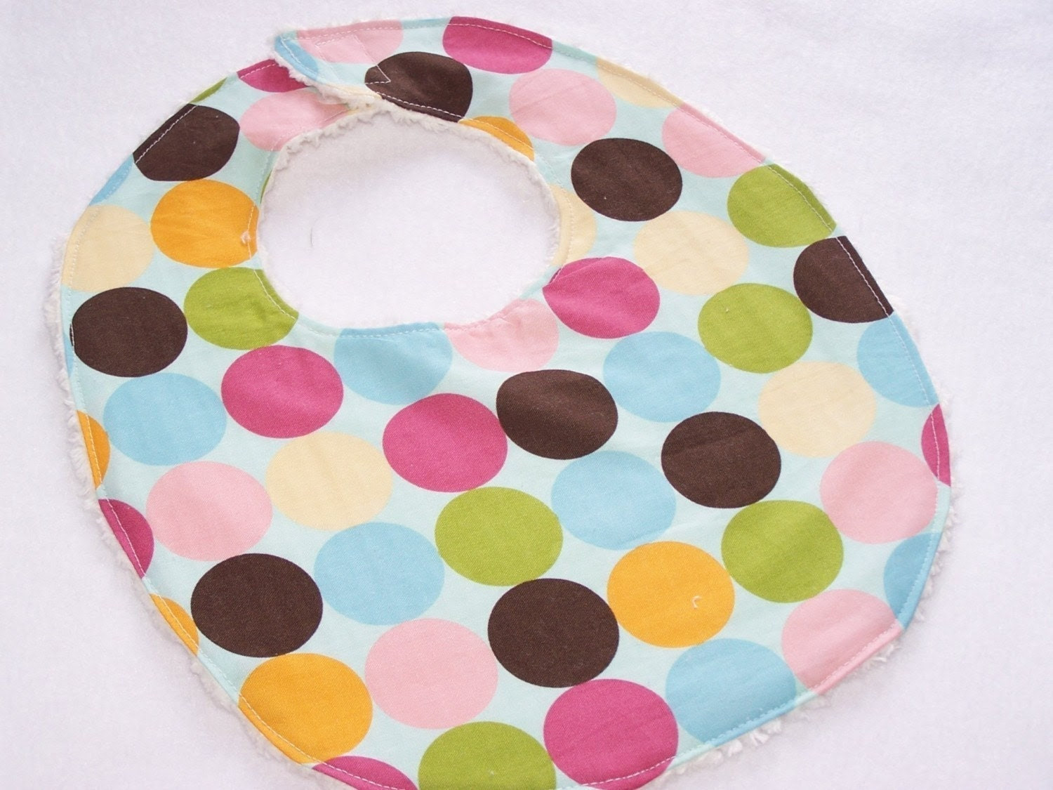 Bib SALE  Happy Circles Chenille Bib