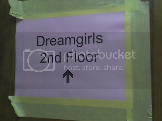 Dreamgirls elevator sign CU