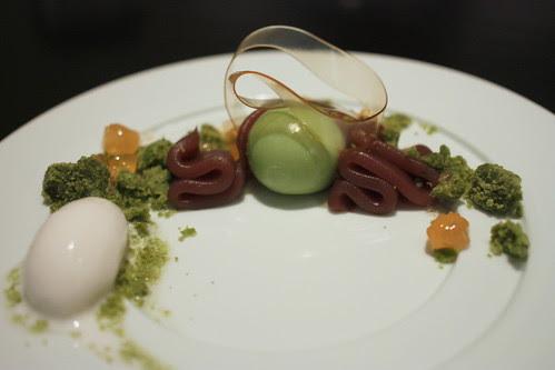 Lychee, Red Bean, Matcha Custard