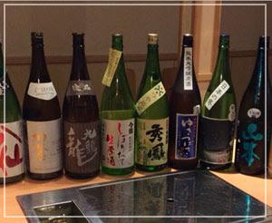 今日の飲み放題日本酒の一覧。壮観……♪