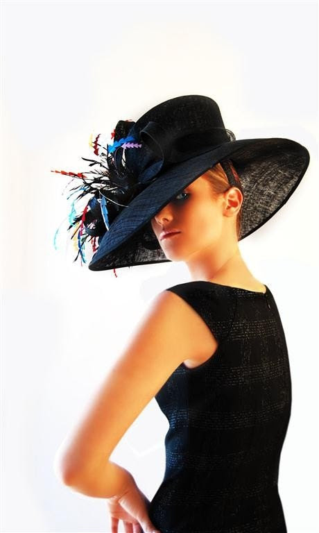 Sinamay Feather Kentucky Derby Hat by lilacpop