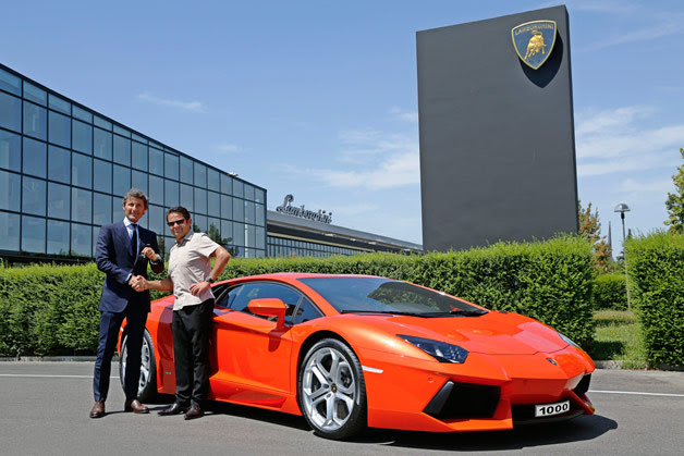 1,000th Lamborghini Aventador built with new owner and Lambo CEO