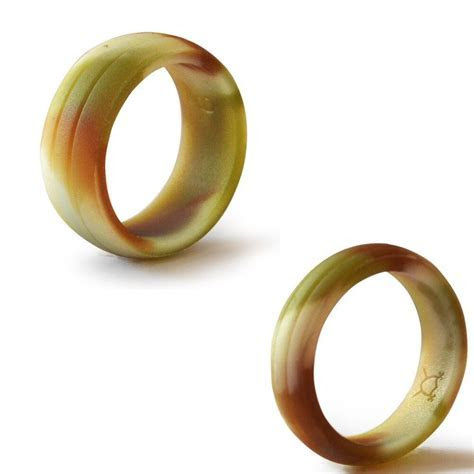 Double Debossed Flexible Silicone Wedding Band Ring