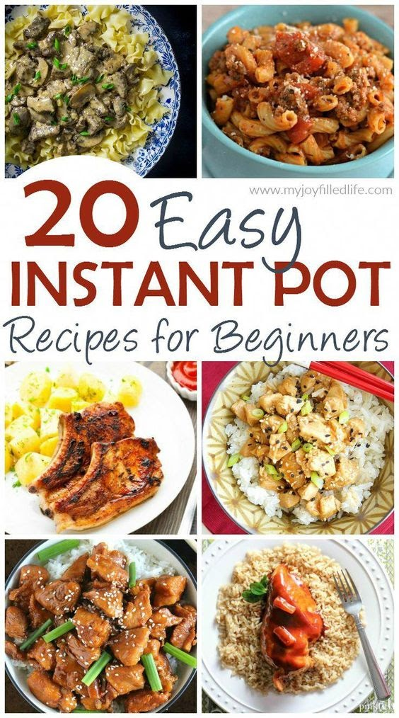 20 Easy Instant Pot Recipes for Beginners #instantpot #recipes #dinnerrecipes #ShrimpRecipesEasy