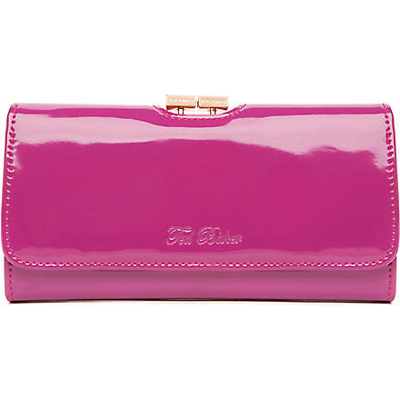 TED BAKER Rika large patent purse (Deep pink