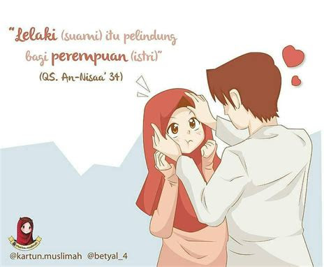 gambar kartun islami suami istri top gambar