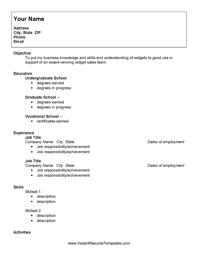 Resume Examples For Highschool Students With No Experience لم يسبق
