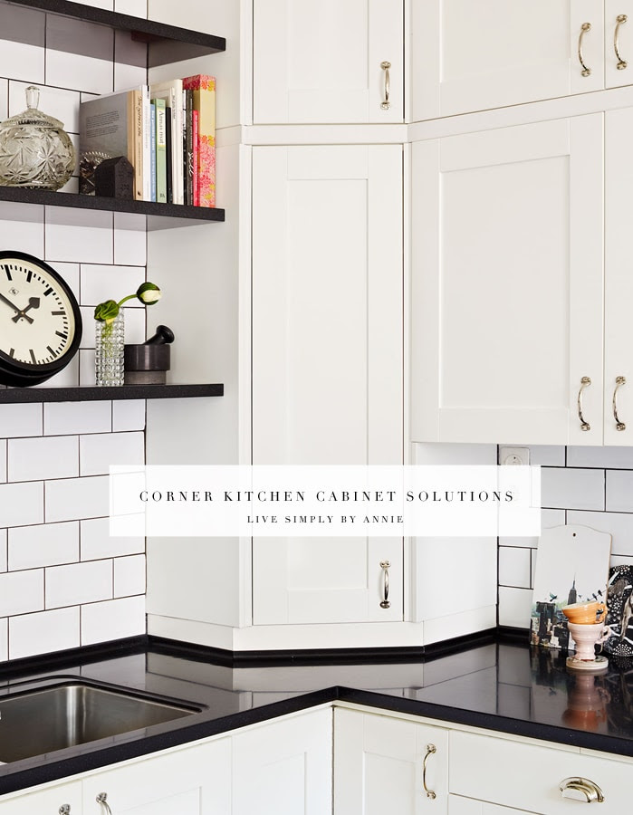Upper Corner Kitchen Cabinet Solutions - Live Simply by Annie