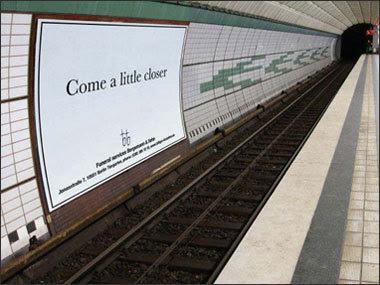 Come a little closer ad in Berlin