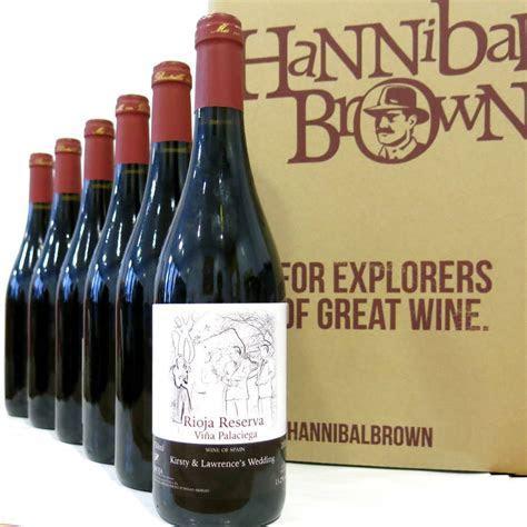 personalised wine case wedding gift by hannibal brown