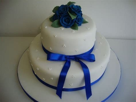 Blue Rose 2 Tier Cake   Wedding Cakes   Cakeology