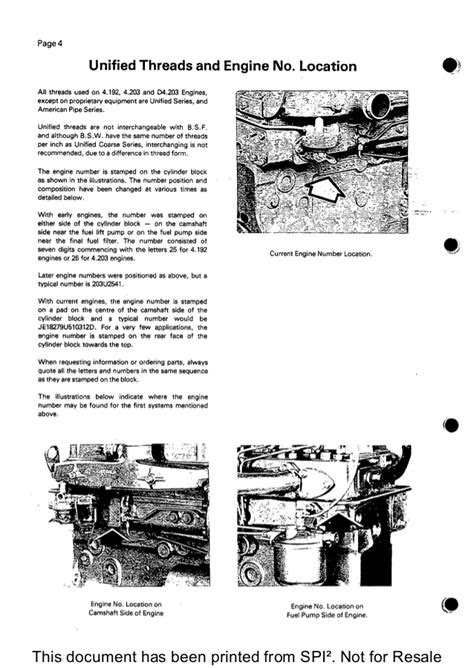 PERKINS 4.192 DIESEL ENGINE Service Repair Manual