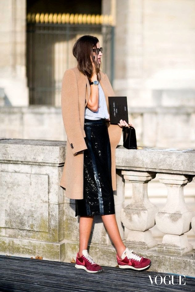 Le Fashion Blog Paris Street Style Camel Coat Black Sequin Midi Skirt Red Nike Sneakers Casual Cool Sporty Via Vogue photo Le-Fashion-Blog-Paris-Street-Style-Camel-Coat-Black-Sequin-Midi-Skirt-Red-Nike-Sneakers-Casual-Cool-Sporty-Via-Vogue.jpg