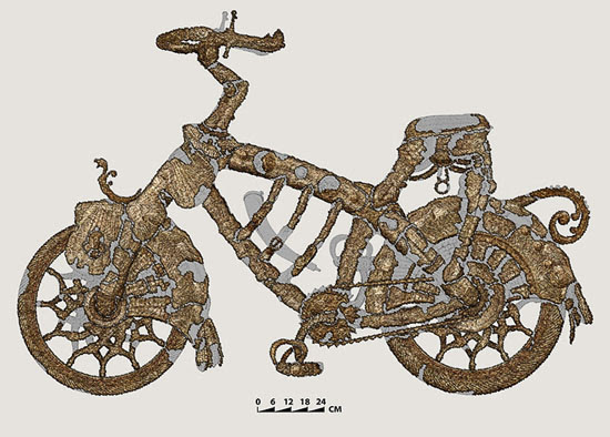 Boris Indrikov's medieval bicycle from Château Gaillard