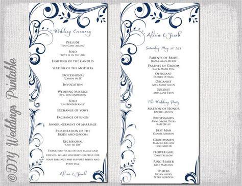 wedding program template word ideas  pinterest