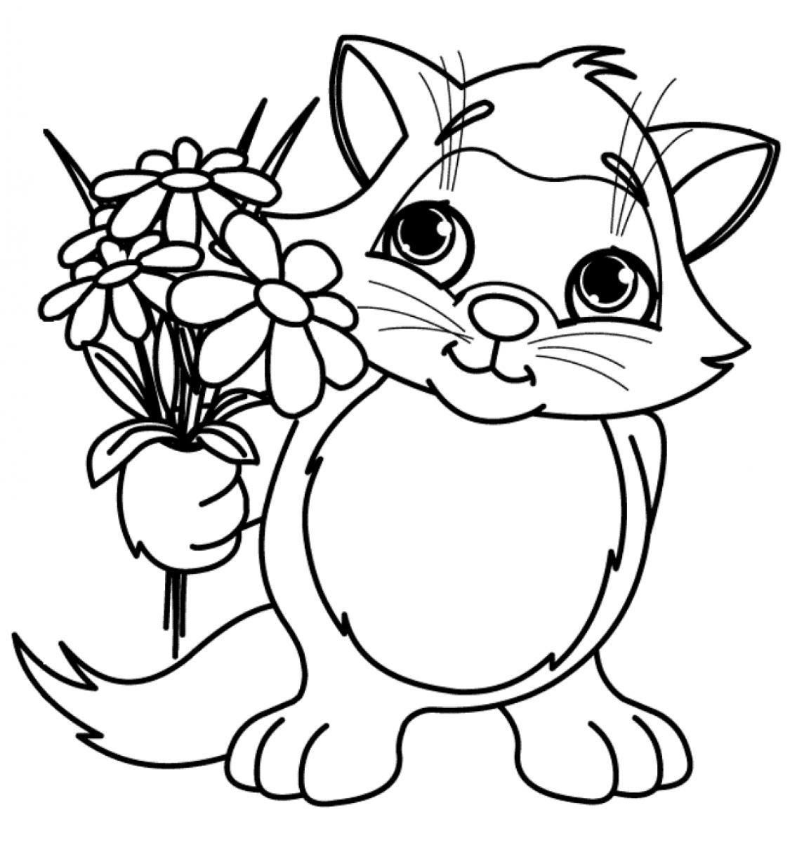 Dibujos De Flores Grandes Para Colorear