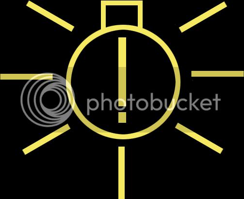 Golf V Sarı Ampül Içinde ünlem Işareti Ikaz Lambası