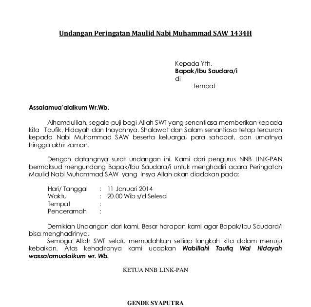 Contoh Proposal Kegiatan Maulid Nabi 2015