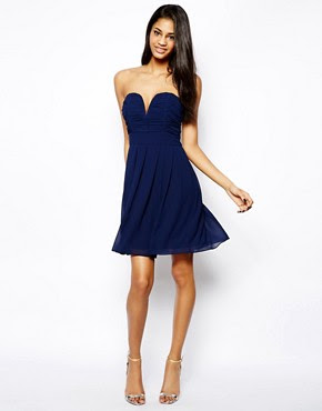 Image 4 ofTFNC Dress With Plunge Bustier