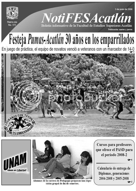 NotiFESA del 3 de junio de 2008, página principal