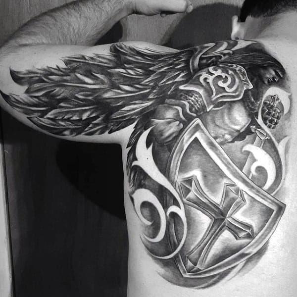 Temporary Tattoos Neck Back Body Cross Wings Men Makeup Fake Spray