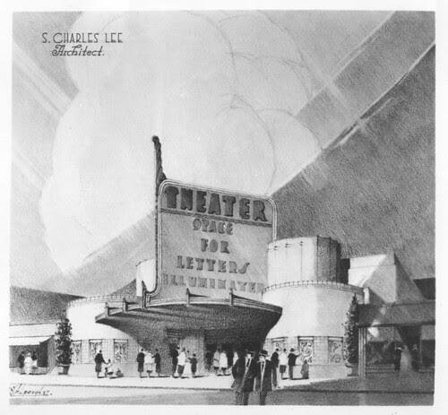 Fox Theatre, Redondo Beach architectural render