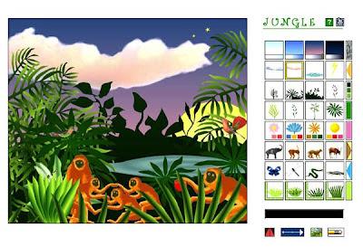 National Gallery of Art Kids - Jungle Interactive art software screen shot.
