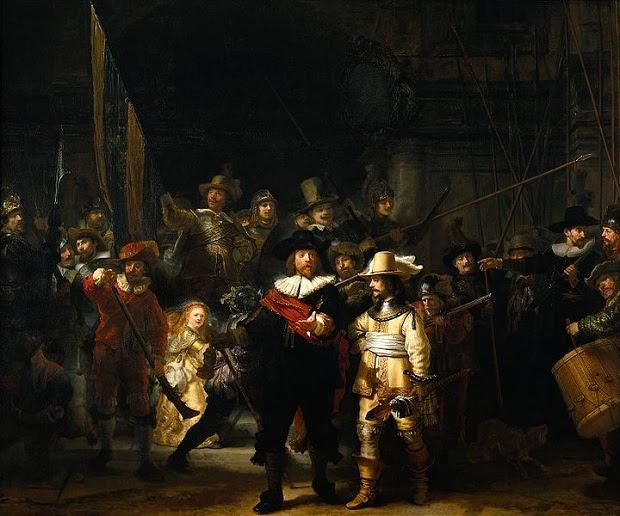 Ronda Noturna, pintada em 1642, é uma das principais obras de Rembrandt (Foto: Reprodução/Wikipedia)