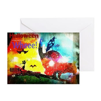Halloween Fly By1 Greeting Cards (Pk of 10)