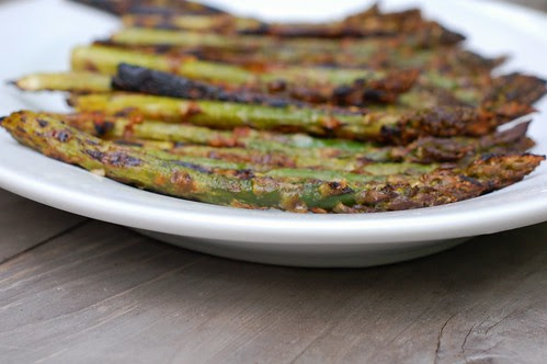 Parmesan Garlic Grilled Asparagus by Eve Fox, the Garden of Eating blog, copyright 2013