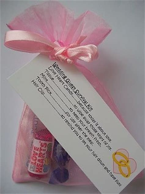 Personalised wedding favours, Survival kit gifts and