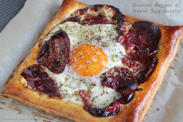 Roasted Pepper & Baked Egg Galette 2