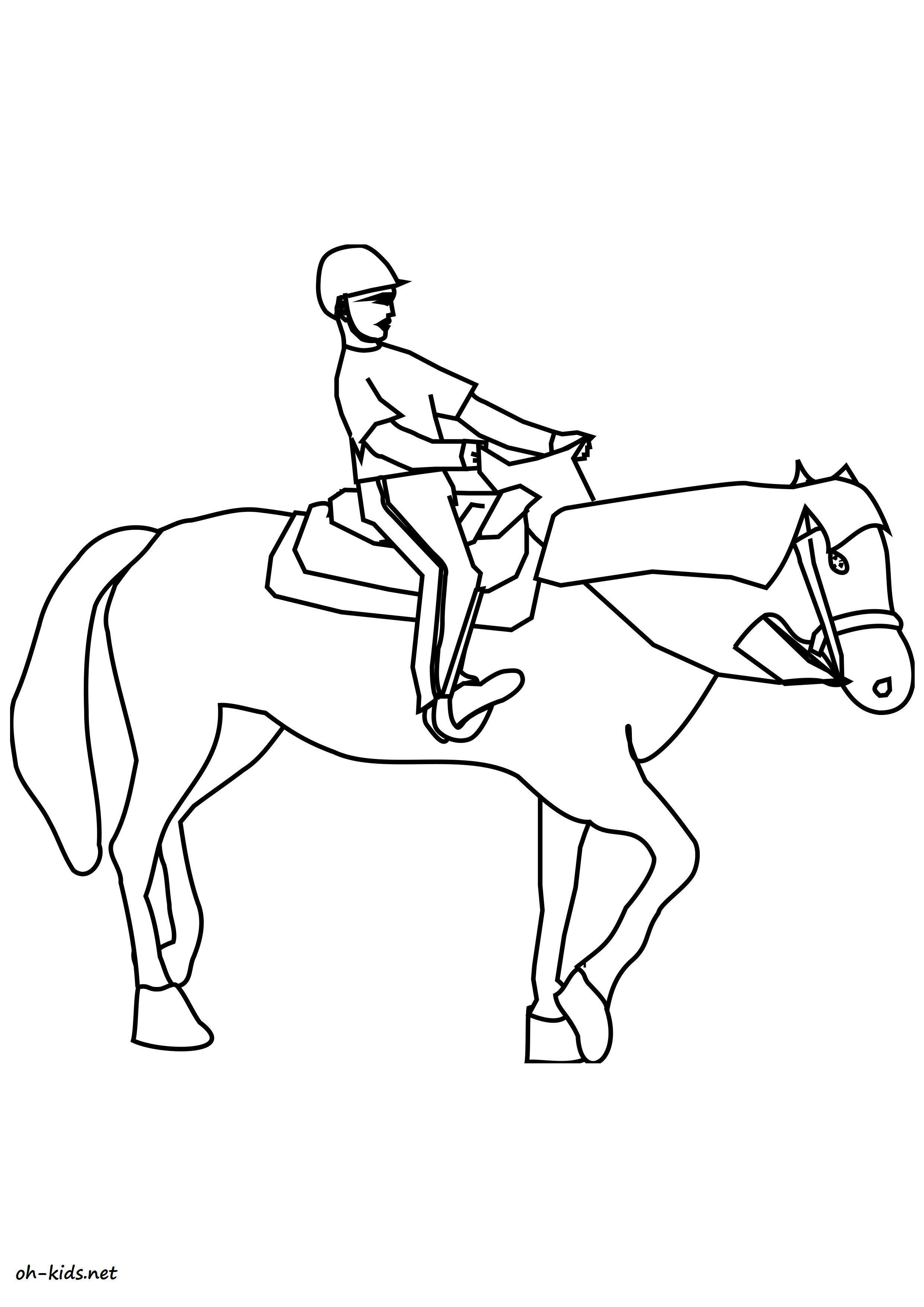 image de équitation a dessiner Dessin 1370