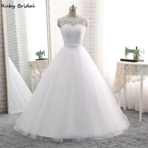 Ruby Bridal Vintage Long Ball Gown Wedding Dresses