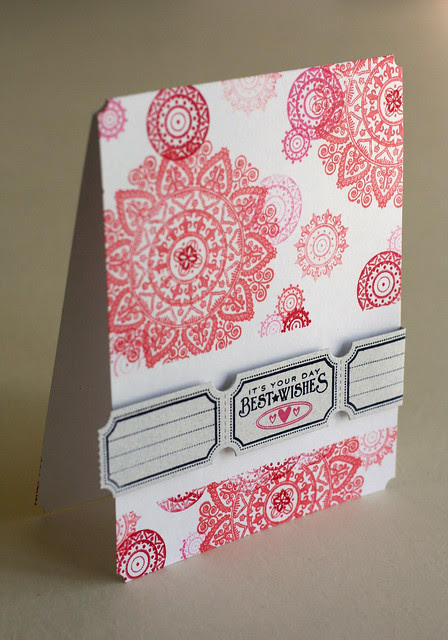 Mehndi Medallion Damask Just the Ticket Best Wishes Birthday Card 2