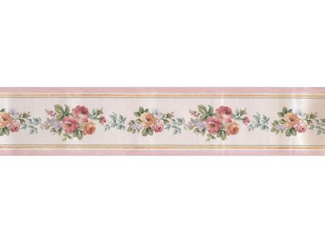 satin rose wallpaper border