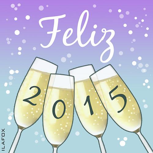 feliz 2015, happy 2015, taças batendo, brinde, champanhe, fim de ano, reveillon