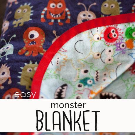 easy toddler monster blanket