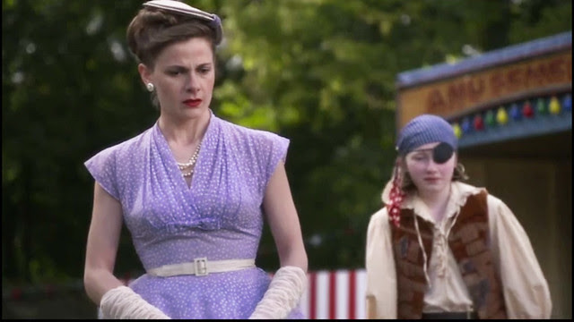 father.brown.mayors.wife.lavender.polka.dot.dress1