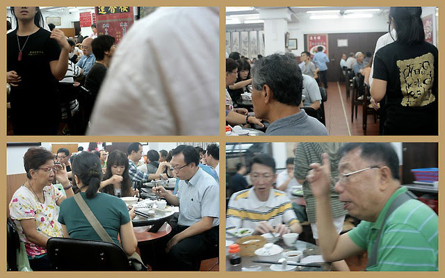 Busy yumcha atmosphere inside Lin Heung (upstairs)
