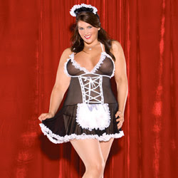 Costume - French maid babydoll (Plus Size)