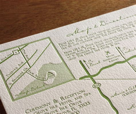 Lead the Way to Your Wedding with Maps Letterpress Maps